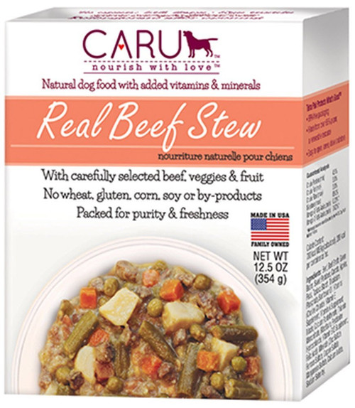 Caru Real Beef Stew Wet Dog Food 12 Ounce, 12 Pack