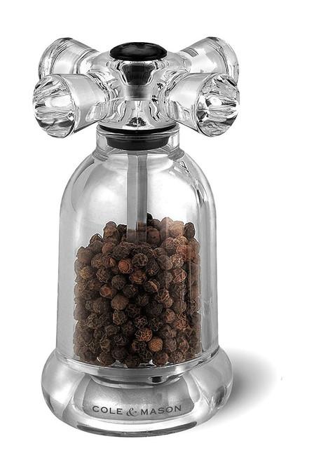 Cole & Mason Tap Precision Pepper Mill, Acrylic, Peppercorns Included