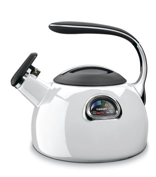Cuisinart PTK-330W PerfecTemp Porcelain Enameled Teakettle, White