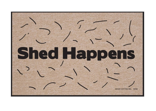 Shed Happens Funny Indoor/Outdoor Welcome Doormat
