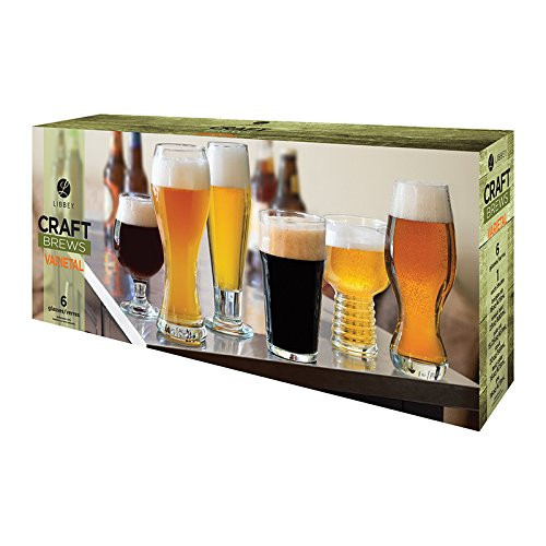 Libbey Craft Brews, 6 Piece Assorted Set