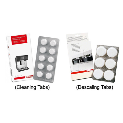 Miele Coffee Machine Cleaning Tablets (10pk) & Descaling Tablets (6pk)