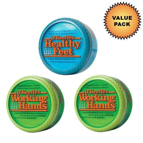 OKeeffes Working Hands Cream OKeeffes Healthy Feet Cream :: Value Pack (2 + 1 pack)