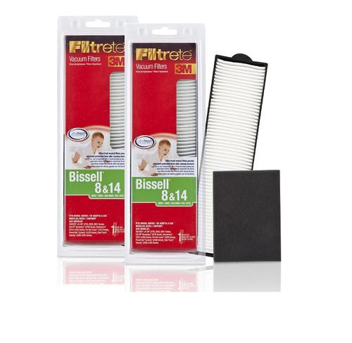 3M Filtrete Bissell 8 & 14 Vacuum Filter, 2 Pack