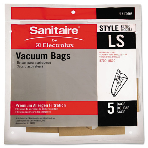Eureka Commercial Upright Vacuum Cleaner Replacement Bags, 5/Pack
