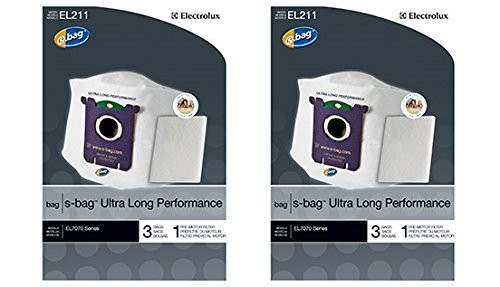 Genuine Electrolux Ultra Long Performance s-bag EL211 - (2 Pack = 6 bags, 2 premotor filters)