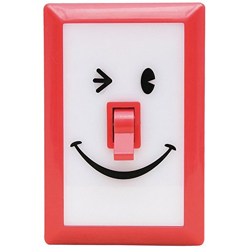 Time Concept LED Smile switch night light - Red