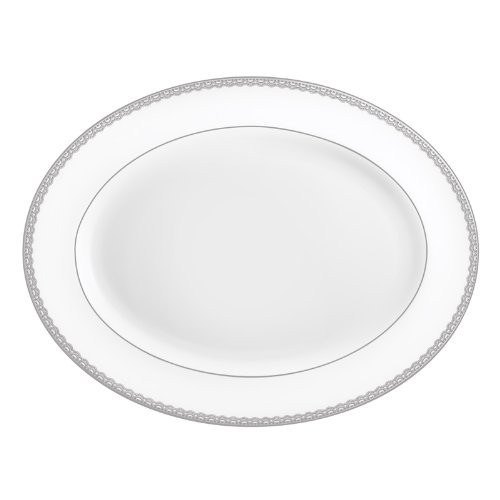 Waterford Lismore Lace Platinum Platter, 15.5""