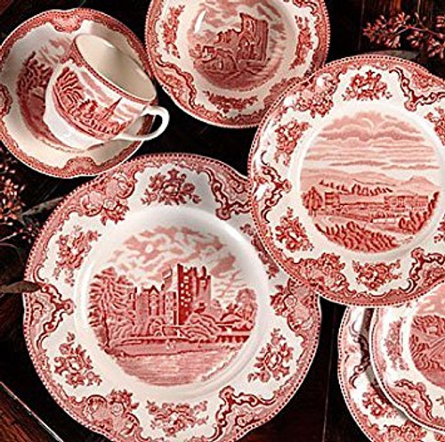 Johnson Bros. Old Britain Castles Pink Saucers Only