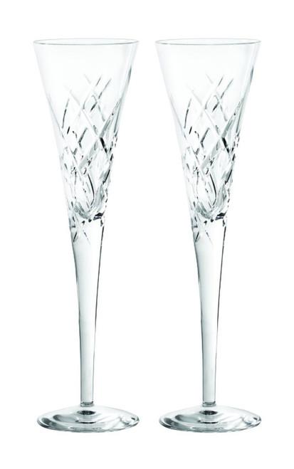 Vera Wang Wedgwood 20th Anniversary Duchesse Encore Clear Flutes Pair