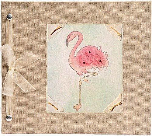 Hugs and Kisses XO Flamingo Baby Memory Book
