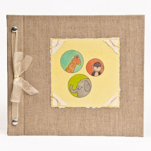 Baby Book - Baby Memory Book - Neutral, Unisex, Jungle, Baby Album - Jungle Baby Memory Book - Hugs and Kisses XO JUNGLE Baby Memory Book