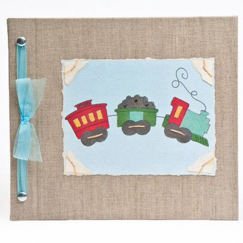 Hugs and Kisses XO Baby Memory Book: TRAIN Boy Baby Album from Birth to 5 Years