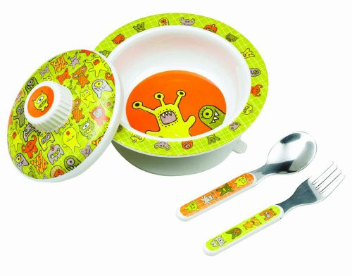 Sugarbooger Covered Bowl Gift Set, Hungry Monsters