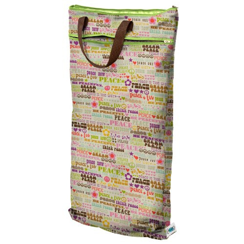Planet Wise Hanging Wet/Dry Bag, Think Peace