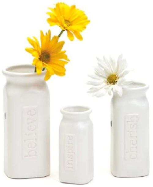 Embellish Your Story Believe, Cherish & Inspire Vases - Set of 3 Assorted - Embellish Your Story Roeda 13706-EMB