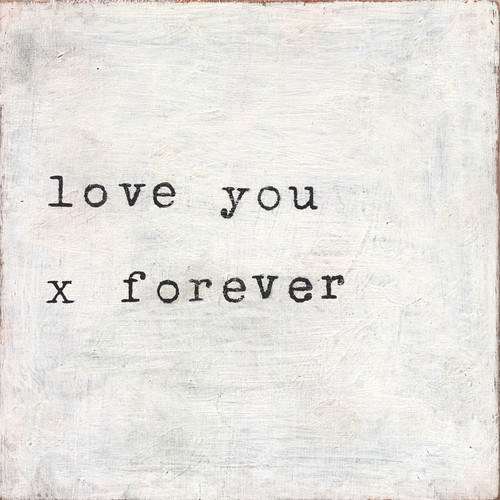 "Sugarboo Designs Canvas Print ""Love You x Forever"" 36""x36"""