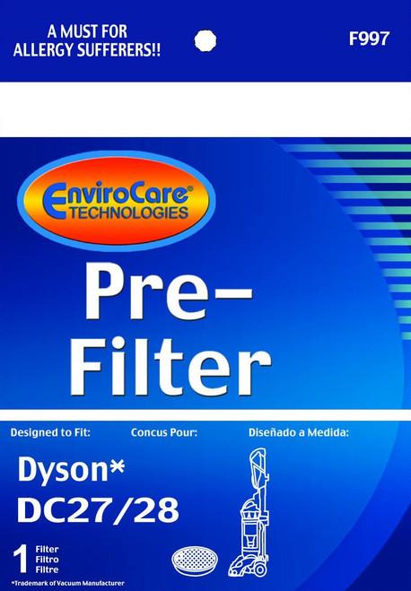 1 Dyson DC28/DC27 Total Clean Washable & Reusable Pre-Motor Purple Sponge Filter