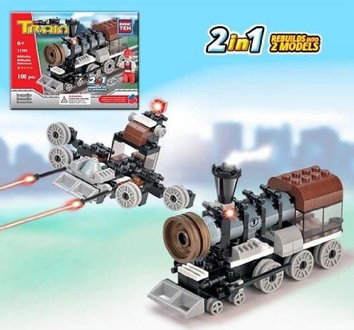 Train Series 2 In 1 - Building Set by Brictek (11701)