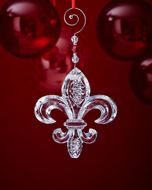 Waterford Crystal 2015 Fleur De Lys Ornament