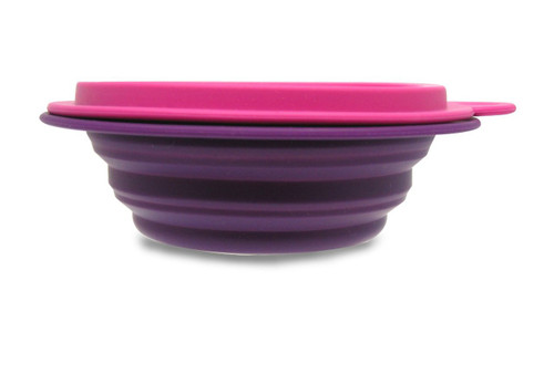 Make My Day All Gone ! CBB02PUPK Silicone Rubber Collapsible Container, Pink