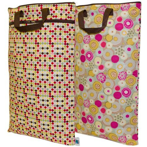 Planet Wise Hanging Diaper Wet/Dry Bag - Piccolo Dot (2 Sided)