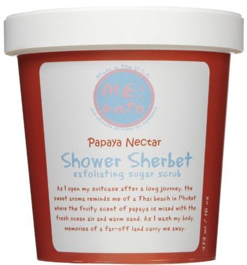ME! Bath Shower Sherbet Sugar Scrub - Papaya Nectar - 16 oz
