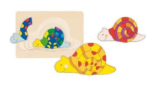 """Wooden Snail Puzzle 7"""" by Goki"""