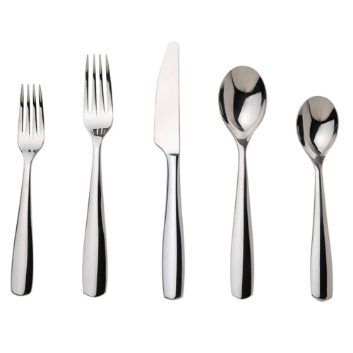 Nambe Fjord 5-Piece Stainless Steel Place Setting, Service for 1