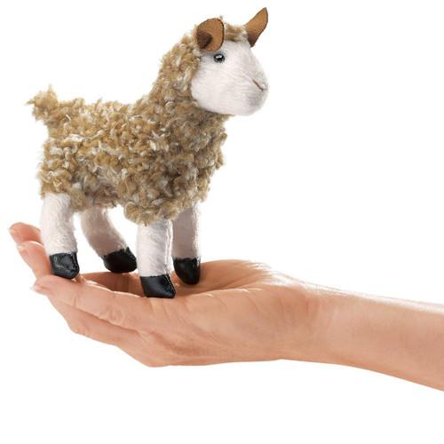 Folkmanis Mini Alpaca Finger Puppet
