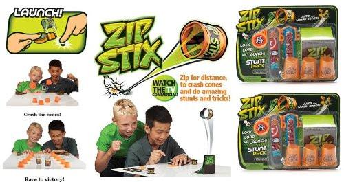 Zip Stix Stunt Pack x 2 (2 ZipStix, 2 Launchers, 3 Crash Cones and 1 Kicker Ramp)