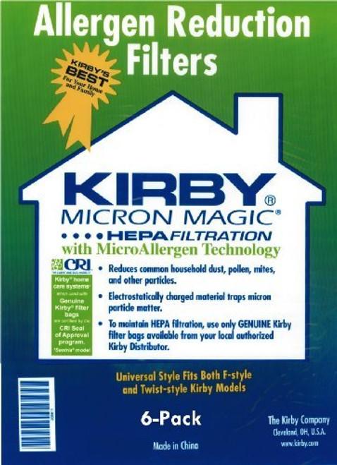 Kirby Universal Bag Kirby #204811 - Universal Hepa White Cloth Bags (6 Pk)