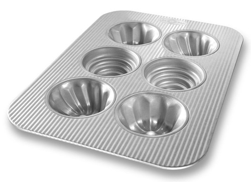 USA Pan Bakeware Aluminized Steel Variety Cakelet Pan, 6-Well