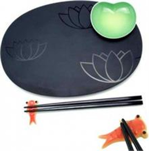 A di Alessi Lily Pond Sushi Set