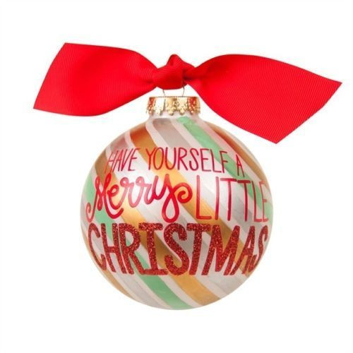 Coton Colors Have Yourself a Merry Little Christmas Glass Ornament