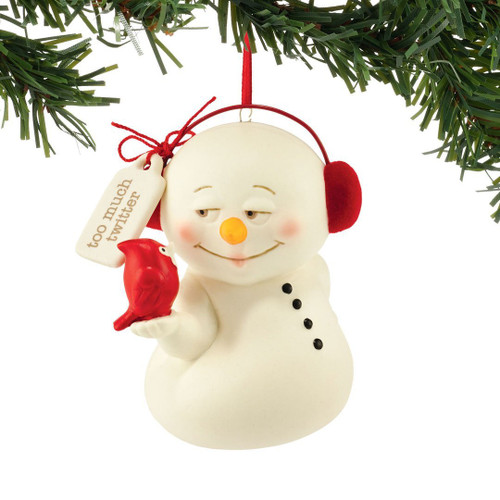 Department 56 Snowpinions Too Much Twitter Ornament 3""