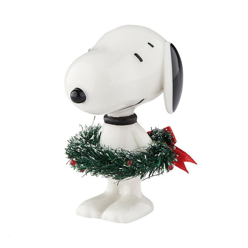 Department 56 Peanuts Wreath Wrapper Canine Figurine, 2.8""