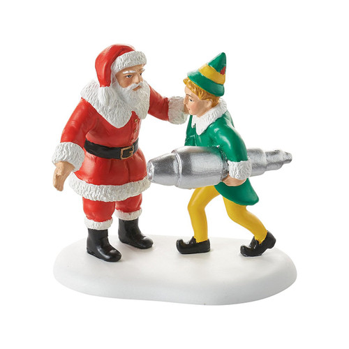 "Department 56 Elf The Movie Village Accessory Buddy Salvages Kringle 3000 Figurine 2.65"" H"