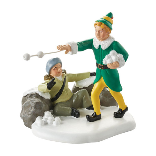"Department 56 Elf The Move Village Accessory Snowball Fight Figurine 2.75"" H"