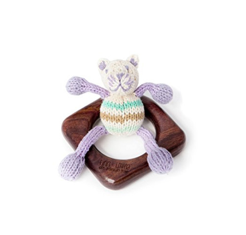 Finn + Emma Organic Teething Ring Buddy, Cat (Discontinued by Manufacturer)