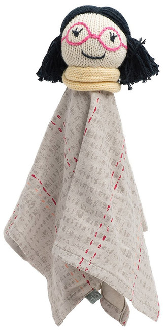 Finn + Emma | Rattle Lovie | Baby Girl | Mila | 100% Organic & Eco-Friendly | Hand Knit & Fair Trade | Made in Peru