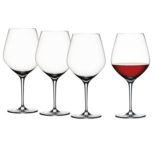 Spiegelau 4400180 Clear Authentis Burgundy Wine Glasses, Pack of 4
