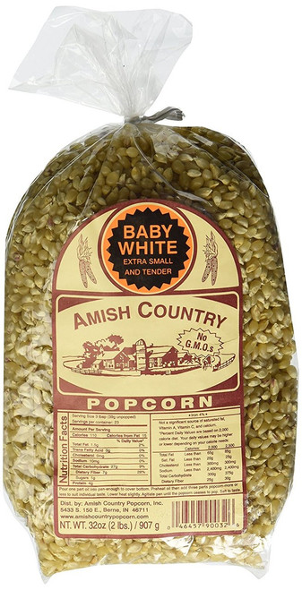 Amish Country Popcorn Baby White 2 Pound Bag