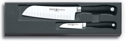 Wusthof Grand Prix II 2-Piece Hollow-Ground Asian Knife Set