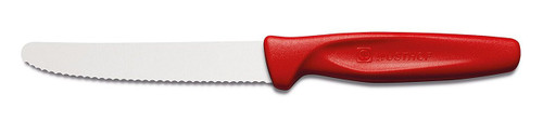 "Wüsthof - 4"" Serrated Paring Knife, Red (3003R)"