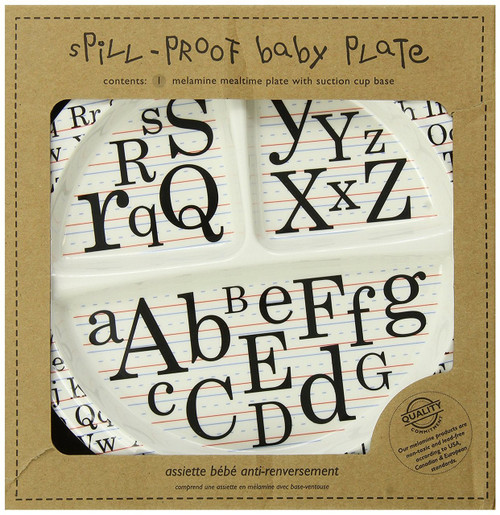 Sugarbooger Divided Suction Plate, Vintage Alphabet