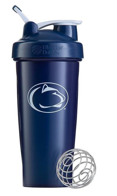 BlenderBottle Classic NCAA Collegiate Shaker Bottle, Penn State University - Blue/White, 28-Ounce