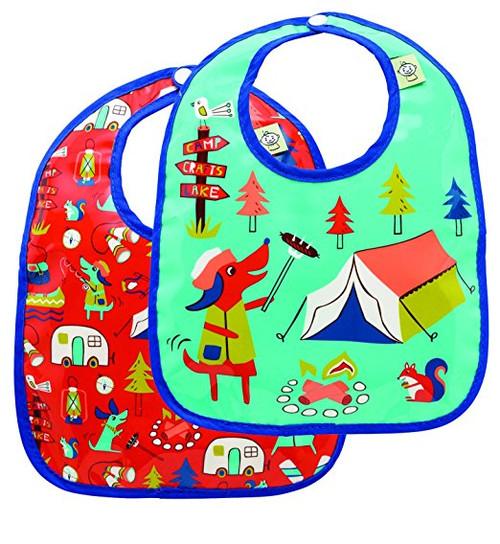 Sugarbooger Mini Bib Gift Set, Happy Camper, 2 Count