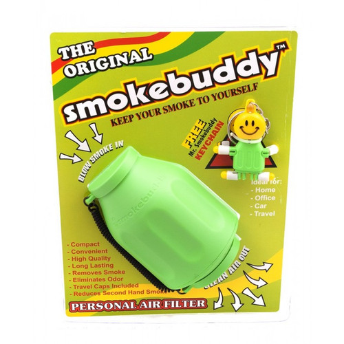1 X Lime Green Smoke Buddy - Personal Air Purifiery and Odor Diffuser