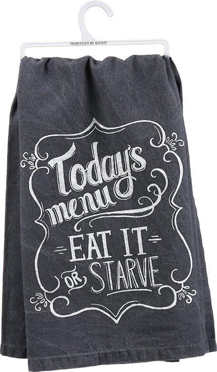 Primitives By Kathy Tea Towel Quot Today S Menu Eat It Or